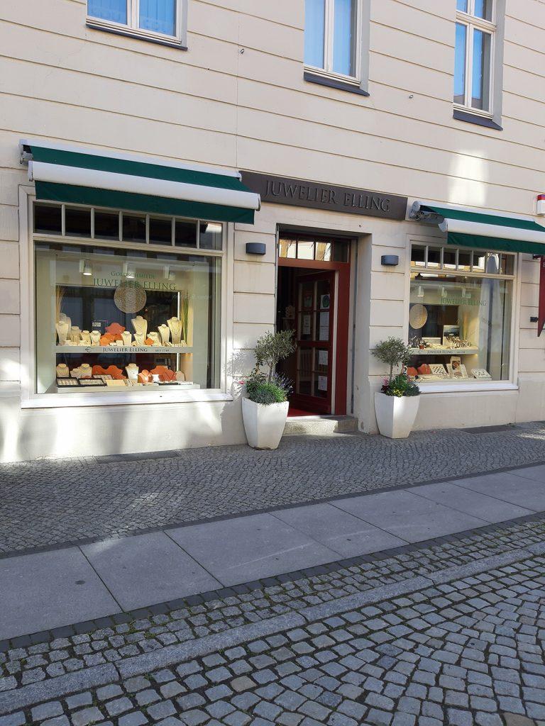 Eingangsbereich Juwelier Elling